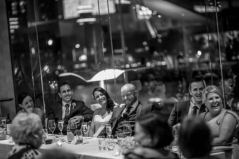 Bridal table at River's Edge Events wedding venue. Beautiful wedding photography by popular Sydney wedding photographer, Grant Hoskinson Photography.