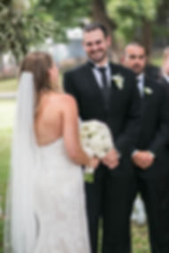 Beautiful wedding photography by best Sydney wedding photographer, Grant Hoskinson Photography. Groom looking at bride during wedding ceremony.
