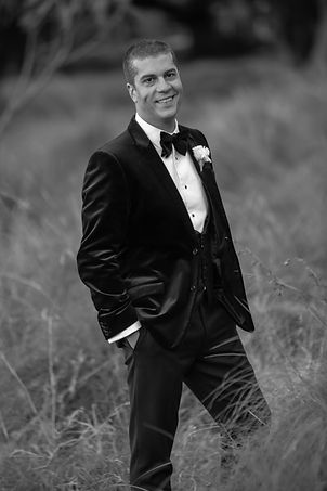 Groom during location photos at Centennial Park. Wedding photography by best sydney wedding photographer, Grant Hoskinson Photography.