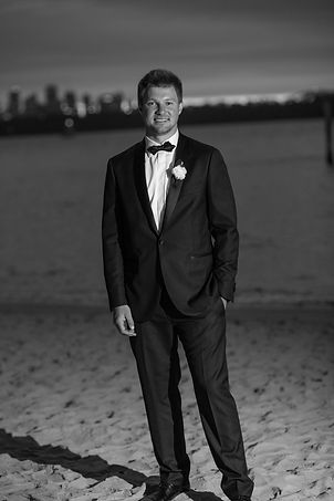 Groom on location photos at Camp Cove, Sydney Harbour. Wedding photography by best sydney wedding photographer, Grant Hoskinson Photography.