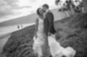 Wedding reception. Sugar Beach Events. Maui, Hawaii. Bride and groom on the beach. Sugar Beach Events. Maui, Hawaii.