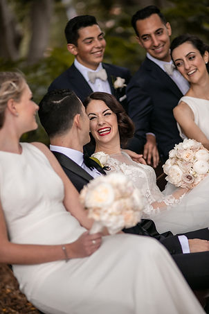 Bridal Party in Hyde Park, Sydney. Wedding photography by best sydney wedding photographer, Grant Hoskinson Photography.