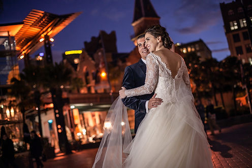 Bride and groom at the Rocks, Sydney for the wedding location photos. Wedding photography by best sydney wedding photographer, Grant Hoskinson Photography.