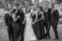 Bride and groom with bridal party in Sydney Botanic Gardens. Photography by Sydney's best wedding photographer, Grant Hoskinson Photography.