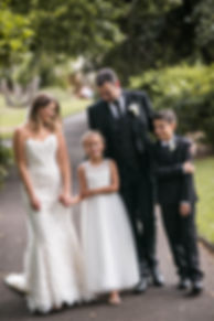 Bride and groom with flowergirl and pageboy. Wedding Photography by Sydney's best wedding photographer, Grant Hoskinson Photography.