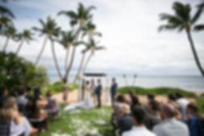 Sydney wedding photographer. Grant Hoskinson Photography. Wedding ceremony at Sugar Beach Events, Maui, Hawaii.