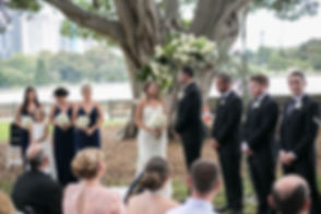 Bride and groom during the ceremony saying their vows. Wedding photography by Sydney's best wedding photographer, Grant Hoskinson Photographer.