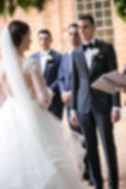 Groom during wedding ceremony. Wedding photgraphy by Sydney wedding photographer Grant Hoskinson Photography.
