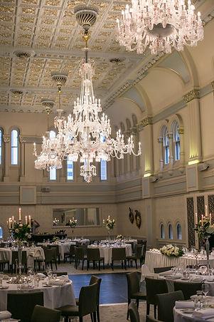 Wedding reception. QVB Tea Room. Wedding photgraphy by Sydney wedding photographer Grant Hoskinson Photography.