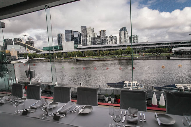 View at the wedding reception at River's Edge Events wedding venue. Beautiful wedding photography by popular Sydney wedding photographer, Grant Hoskinson Photography.