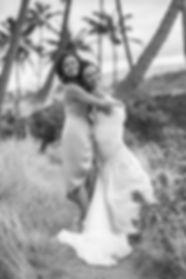 Bride and bridesmaid. location photos. Maui, Hawaii.