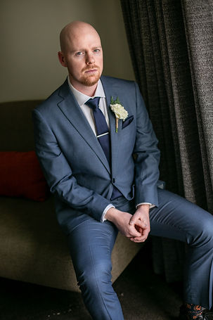 Groom's portrait at Gibraltar Hotel, Bowral. Wedding photography by best sydney wedding photographer, Grant Hoskinson Photography.