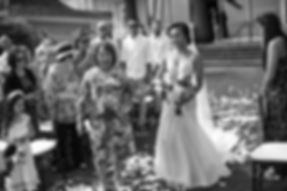 Sydney wedding photographer. Grant Hoskinson Photography. Bride coming down the aisle.