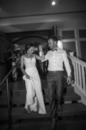 Sugar Beach Events. Bride and groom leaving reception.