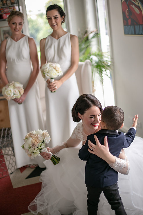 Bride with the pageboy. Wedding photography by best sydney wedding photographer, Grant Hoskinson Photography.