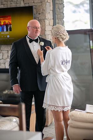 Bride with father of the bride. Wedding photography by best sydney wedding photographer, Grant Hoskinson Photography.