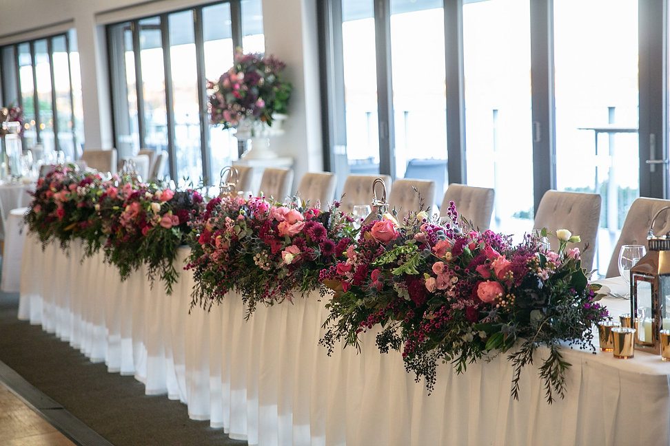 Bridal table. Wedding reception at Sergeants Mess. Photography by best Sydney wedding photographer Grant Hoskinson Photography.