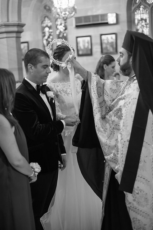 Greek wedding ceremony at the Cathedral of the Annunciation of Our Lady Greek church, Redfern, Sydney. Wedding photography by best sydney wedding photographer, Grant Hoskinson Photography.