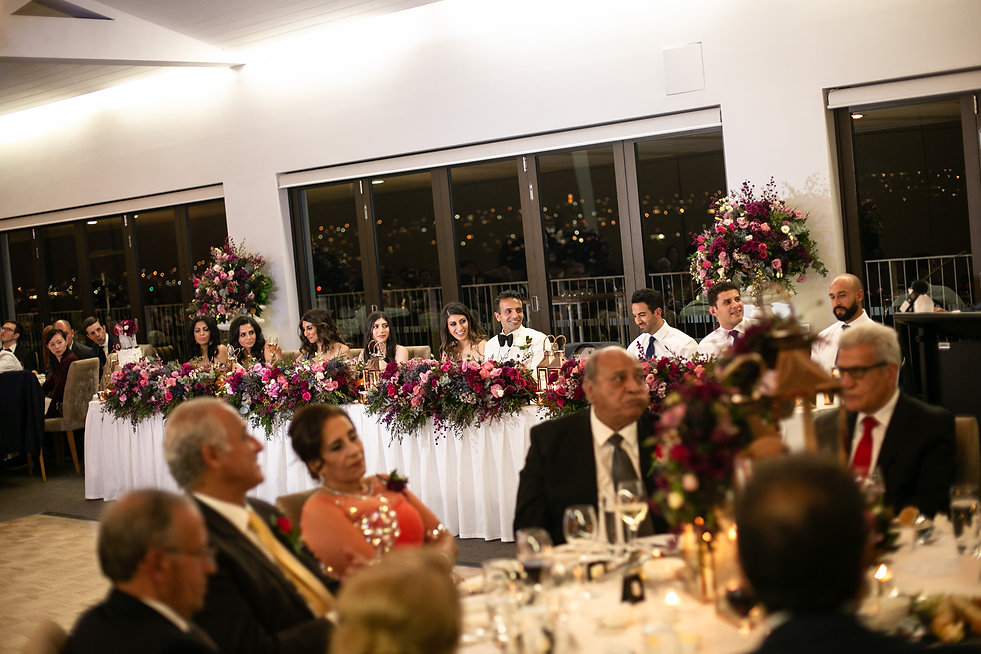 Wedding reception at Sergeants Mess. Photography by best Sydney wedding photographer Grant Hoskinson Photography.