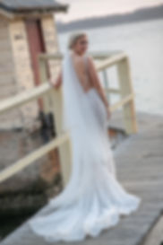 Bride on location photos at Camp Cove, Sydney Harbour. Wedding photography by best sydney wedding photographer, Grant Hoskinson Photography.