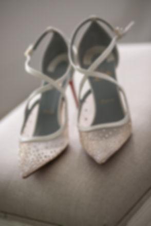 Bride's wedding shoes. Wedding photography by best sydney wedding photographer, Grant Hoskinson Photography.