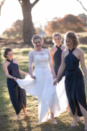 Bride and bridesmaids on location at at Gibraltar Hotel, Bowral. Wedding photography by best sydney wedding photographer, Grant Hoskinson Photography.