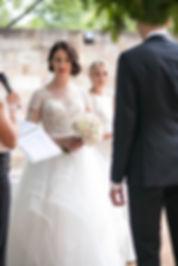 Bride during the ceremony. Wedding photgraphy by Sydney wedding photographer Grant Hoskinson Photography.