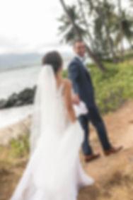 Bride and groom location photos. Maui, Hawaii.