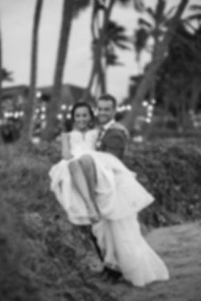 Bride and groom on the beach. Sugar Beach Events. Maui, Hawaii. Wedding Photogaphy by Grant Hoskinson Photography. Sydney.