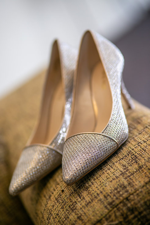 Bride's wedding shoes at Gibraltar Hotel, Bowral. Wedding photography by best sydney wedding photographer, Grant Hoskinson Photography.