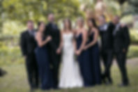 Bride and Groom and bridal party in Sydney Botanic Gardens. Photography by Sydney's best wedding photographer, Grant Hoskinson Photography.