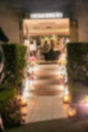 Wedding reception venue at Catalina, Rose Bay. Wedding photography by best sydney wedding photographer, Grant Hoskinson Photography.