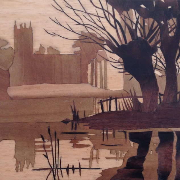 Misty River (after C. Buckle) Three veneers
