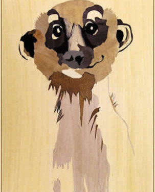 Vassily by Jackie Kavanagh. Portrait of a well known meerkat!