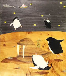 Moon Zoo. Unusual beginner's pic by Jackie Kavanagh
