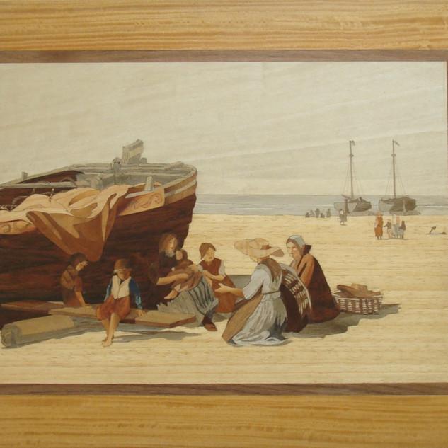 On Scheveningen Beach (after Philip Sadee)