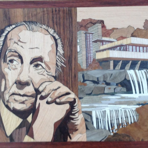 Architect frank LLoyd Wright and Falling Water