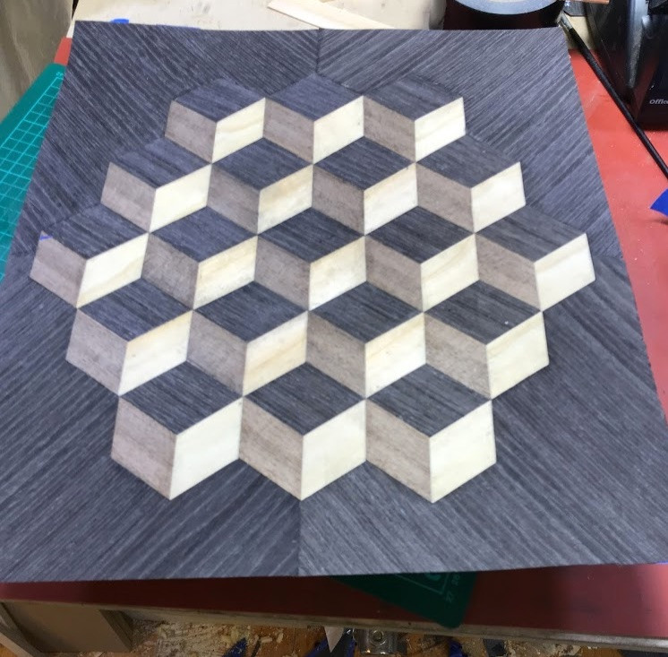 3D marquetry harrow