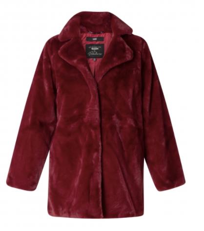 Red Faux Fur Jacket