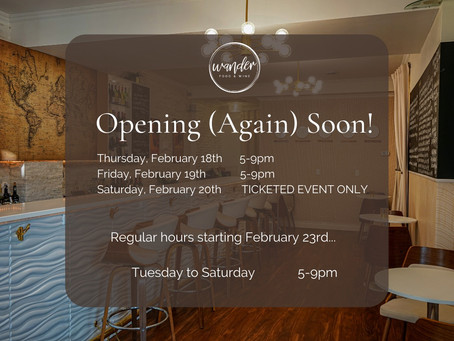 Re-Opening!