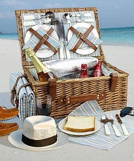 Luxury insulated picnic basket