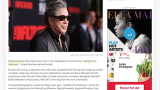 """Brian A. Metcalf to produce and write  """"Twilight Into Darkness"""" alongside Mickey Rourke. M"""