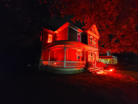Winston-Salem lights up red to support local artists, businesses