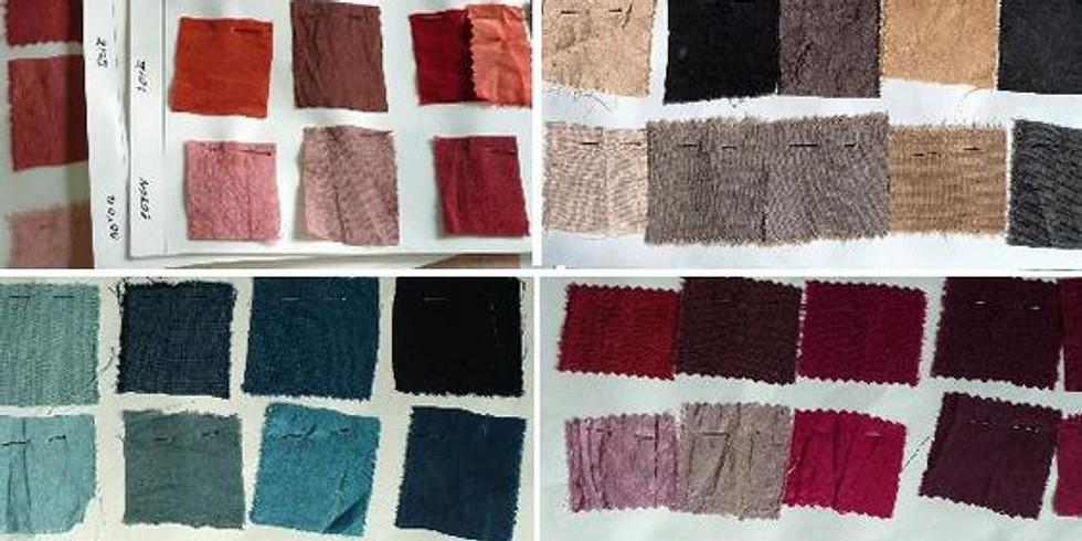 TEINTURE VEGETALE  - couleurs unies
