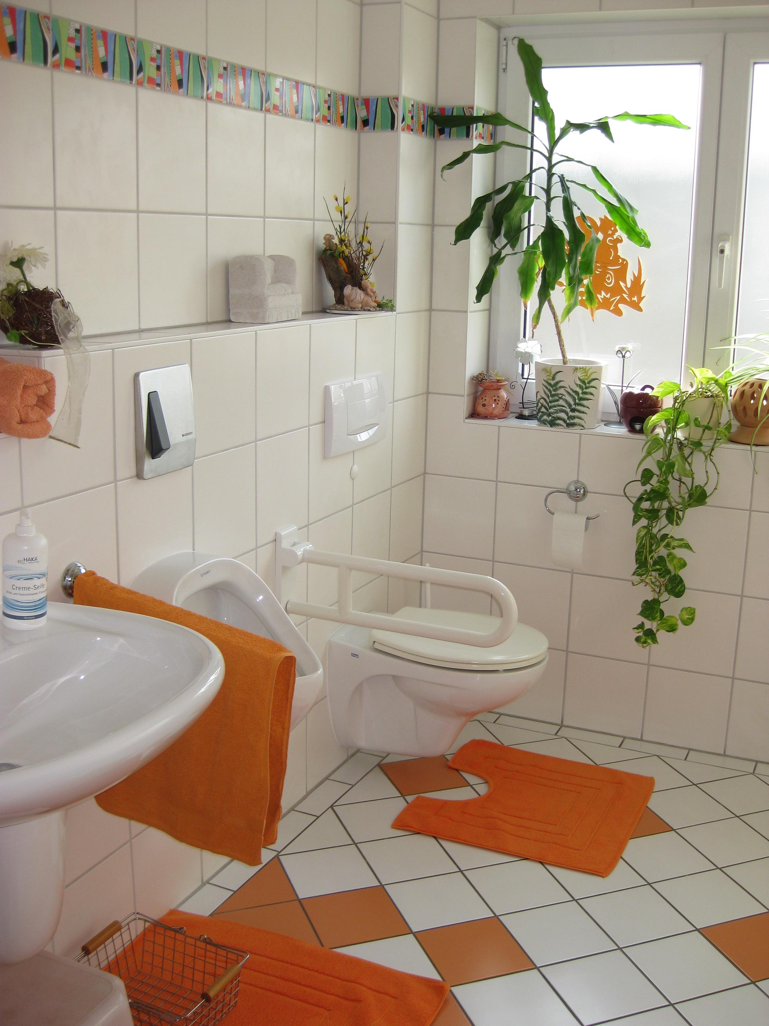 7.Die Toilette ist ge-