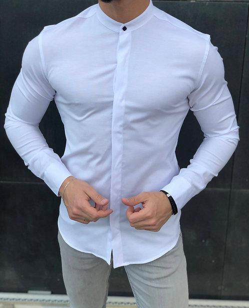 Slim Fit Likralı Hakim Yaka Gömlek