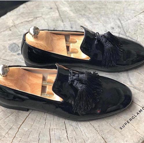 Italian Hakiki Deri Rugan Ayakkabı