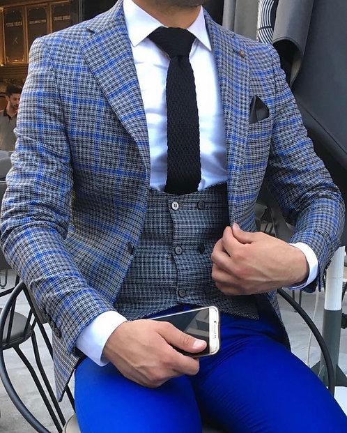 Slim Fit Ceket Yelek Set