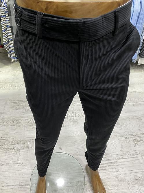 Slim Fit Likralı Kadife Pantolon