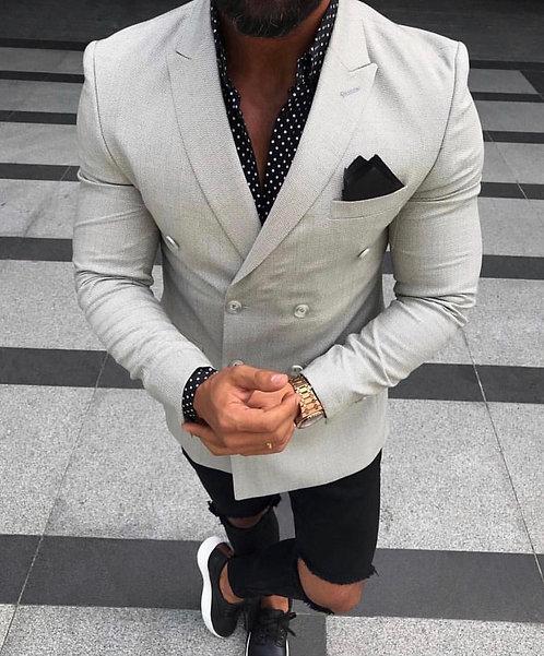 Slim Fit Kruvaze Ceket